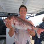 Luke with a Pink Snapper